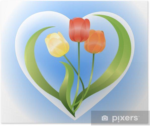 Poster Tulips - Fleurs