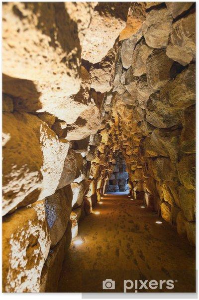 Poster Tunnel nuraghe Santu Antine - Voyages