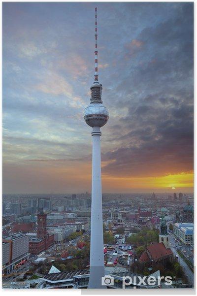 Poster TV-toren in Berlijn. - Berlijn