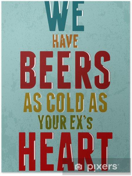 Poster Typografi skämt vintage affisch. Vektor bild - Teman