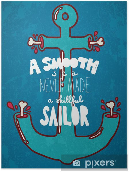 Poster Typografi vektor illustration. - Teman