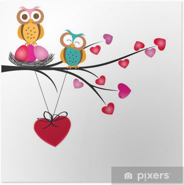 Poster Uilen en harten -