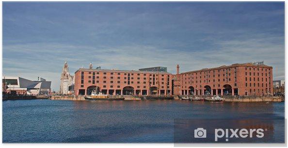 Poster Uitzicht op Albert Dock, Liverpool, UK - Overige