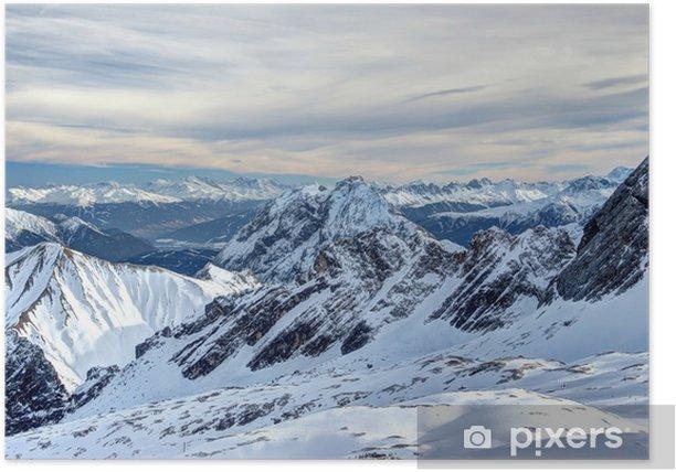 Poster Uitzicht vanaf de Zugspitze - Vakantie