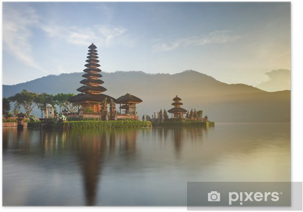 Ulun Danu temple on Bratan lake, Bali, Indonesia Poster - Lakes