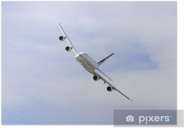 Poster Un jet 380 Airbus de passagers en vol - Thèmes