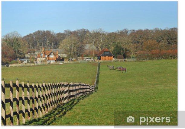 Poster Un paysage rural anglais dans les collines de Chiltern - Mammifères