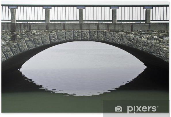 Poster Un pont de pierre sur l'océan à Wakayama - Asie
