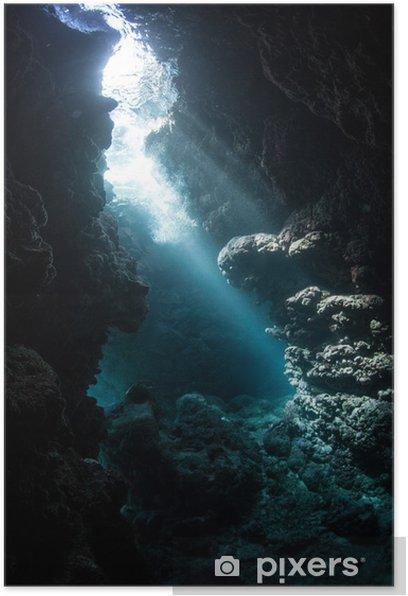 Underwater Cavern Poster - Underwater