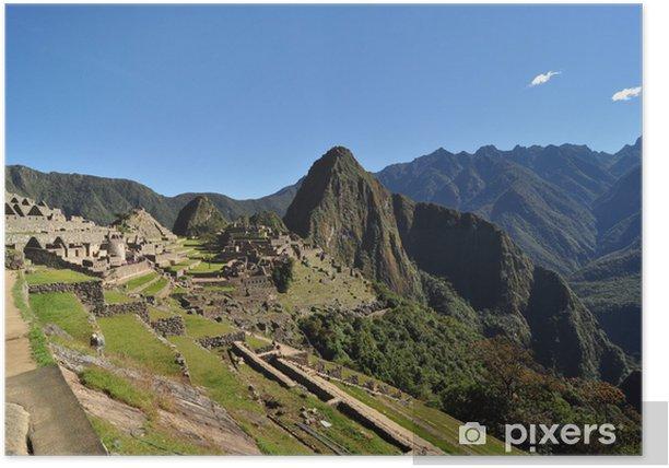 Poster Une belle journée au Machu Picchu, au Pérou - Thèmes