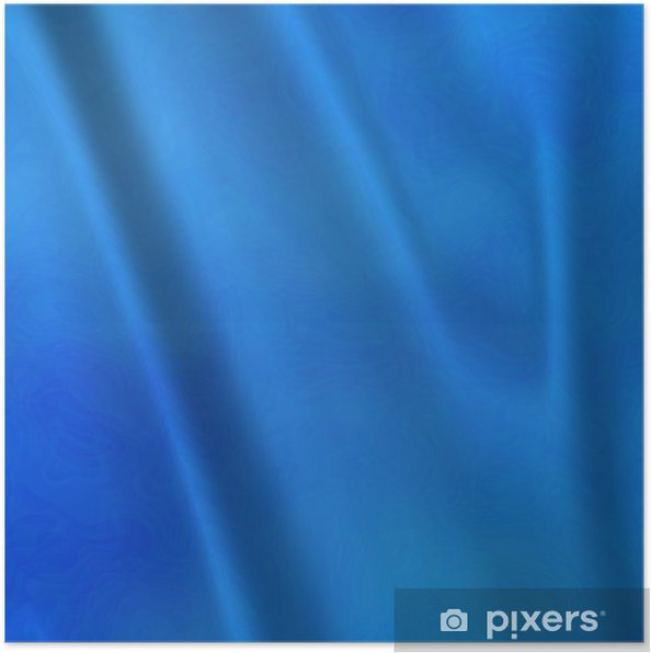 Poster Une grande abstrait de rideaux de taffetas bleu ou des rideaux - Textures