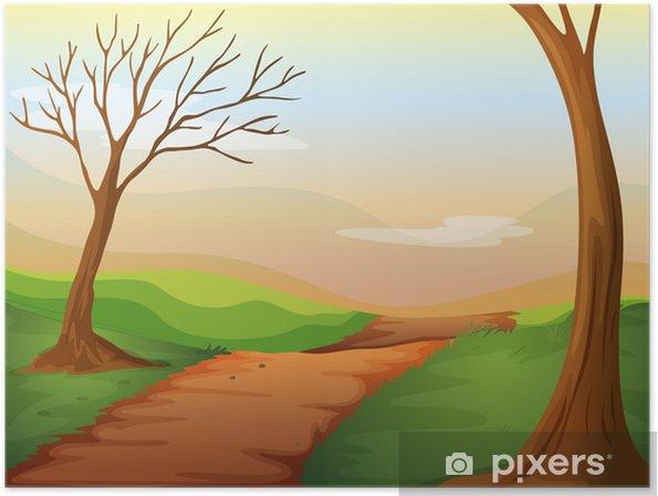Poster Une route déserte - Nature et régions sauvages