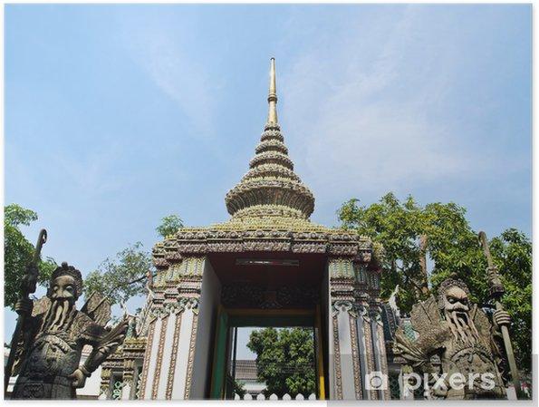Poster Une statue en pierre géant de Wat Pho, Bangkok, Thaïlande - Asie