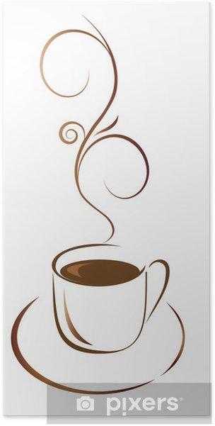Poster Une tasse de café pour votre favori - Repas
