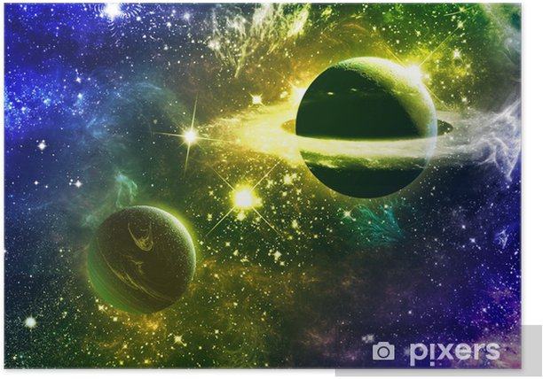 Universe Galaxy Nebulas Stars And Planets Poster