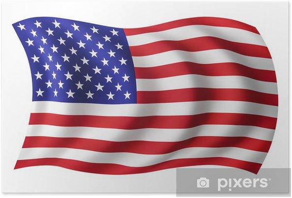 Poster USA flag USA - amerikanska flaggan - Helgdagar