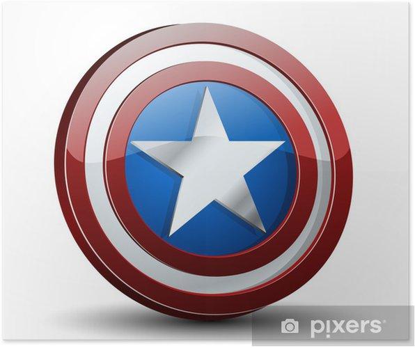 Poster USA Shield - Signes et symboles