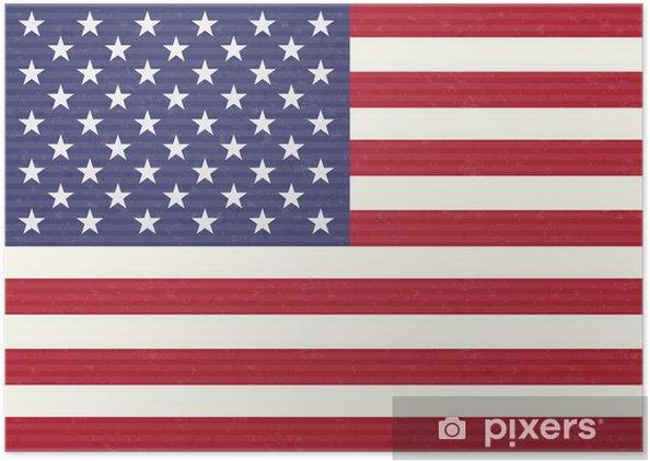 Poster USA sjunker - Teman
