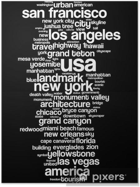 Poster Usa - Amerika