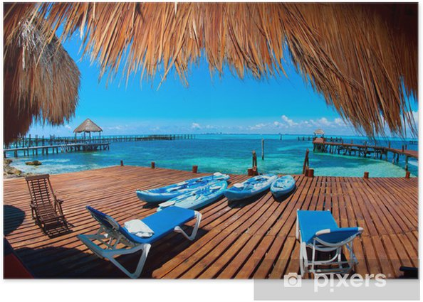 Vacation in Tropic Paradise. Isla Mujeres, Mexico Poster - Themes