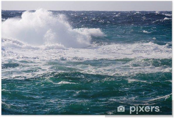Poster Vague méditerranéenne pendant la tempête - Eau