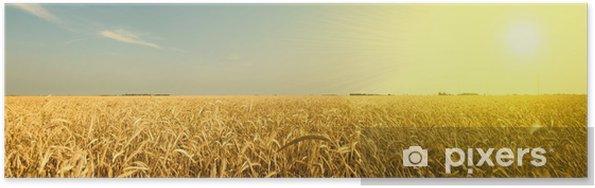 Poster Vagues ambres du grain - Agriculture