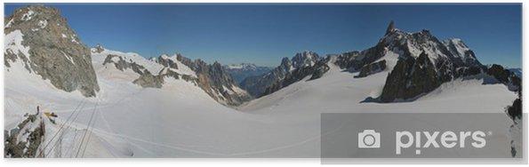 Poster Vallée Blanche et l'Aiguille du Midi - Europe