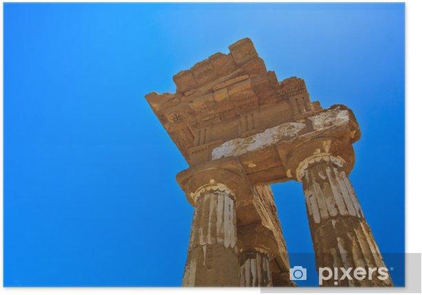 Poster - Vallée des Temples à Agrigente - Europe