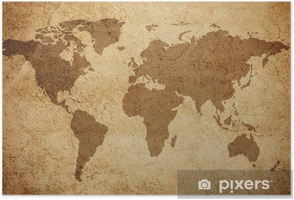 Poster Världskartan konsistens bakgrund - Teman