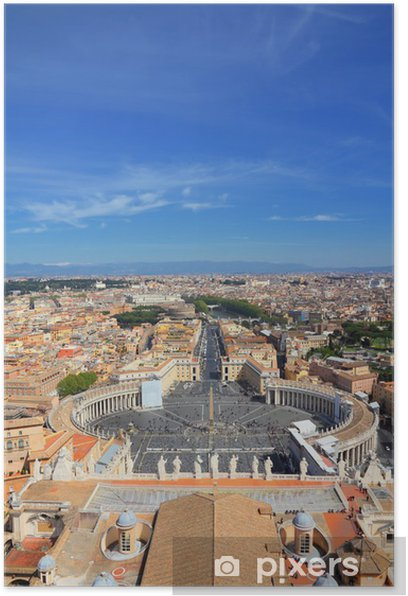 Vatican and Rome Poster - European Cities