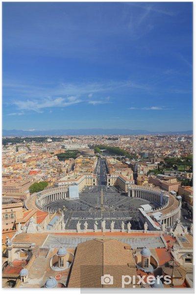 Poster Vatican et Rome - Villes européennes