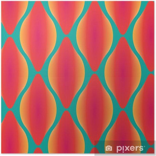 Poster Vecteur coloré motif géométrique abstrait sans soudure contemporaine - Ressources graphiques