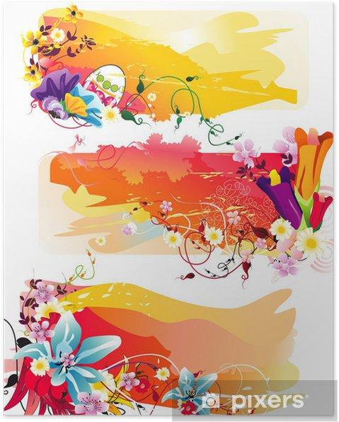 Poster Vecteur de couleur de la fleur - Autres sentiments