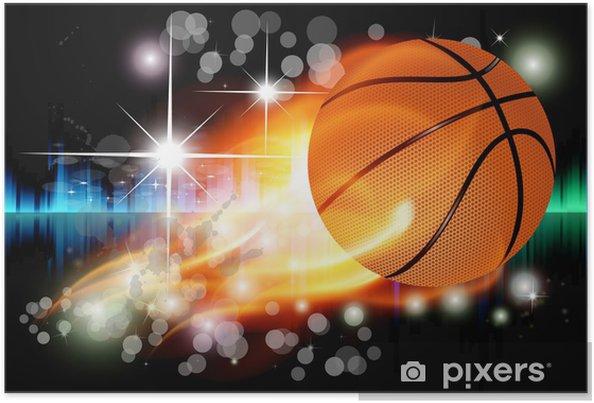 Poster Vecteur de fond abstrait avec le basket - Art et création
