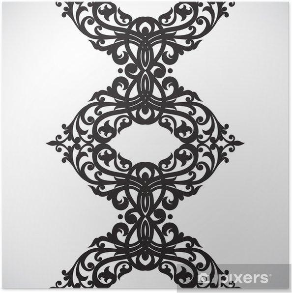 Poster Vecteur frontière transparente dans le style victorien. - Signes et symboles