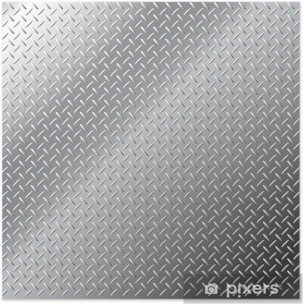 Póster Vector de fondo de metal brillante pequeño patrón de diamante - Ciencias aplicadas y fundamentales