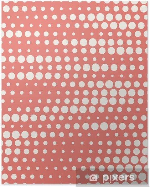 Poster Vector illustratie van naadloze halftone achtergrond in het rood pastel kleuren - Grafische Bronnen