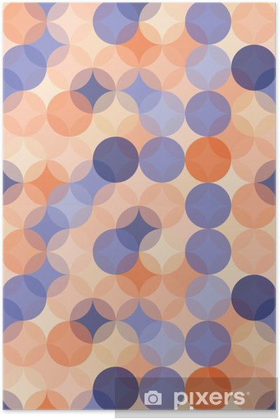 Vector Modern Seamless Colorful Geometry Pattern Circles Color Blue Orange Abstract Geometric Backgroundwallpaper Print Retro Texture Hipster Fashion