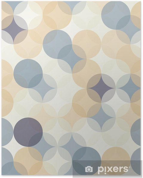 Poster Vector moderne naadloze kleurrijke meetkunde patroon van cirkels, kleur abstract geometrische achtergrond, behang druk, retro textuur, hipster fashion design, __ - Grafische Bronnen