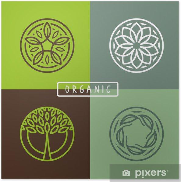 Poster Vector résumé emblème - écologie - Signes et symboles
