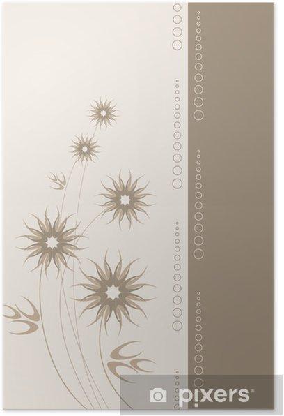 Póster Vector tarjeta con flores estilizadas - Otras emociones