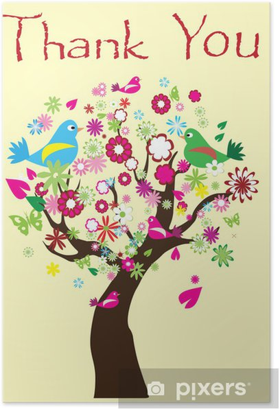 vector thank you tree poster pixers we live to change