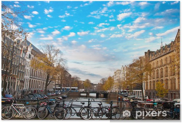 Poster Vélos à Amsterdam - Vélos