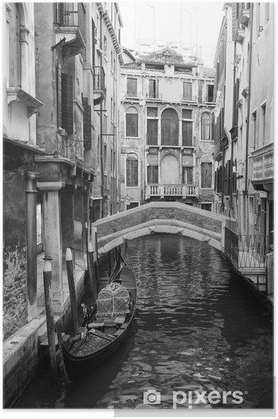 Póster Venecia vista en blanco y negro - Estilos