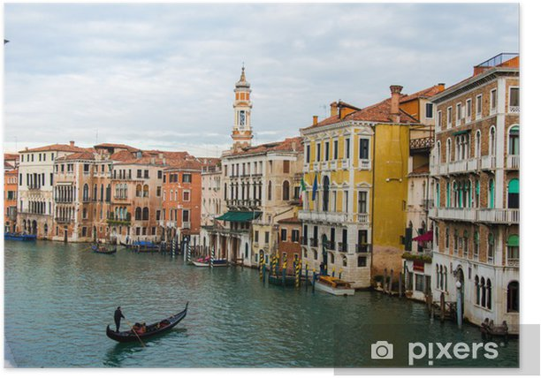 Venice view on a bright summer day Poster - Monuments