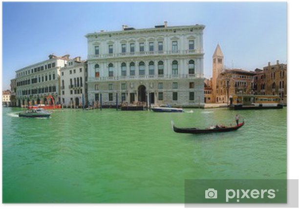 Poster Venise. Grand Canal (panorama). - Villes européennes