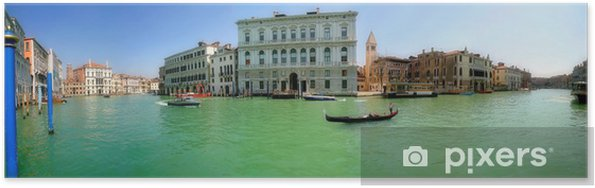 Poster Venise. Grand Canal (panorama). - Villes européennes