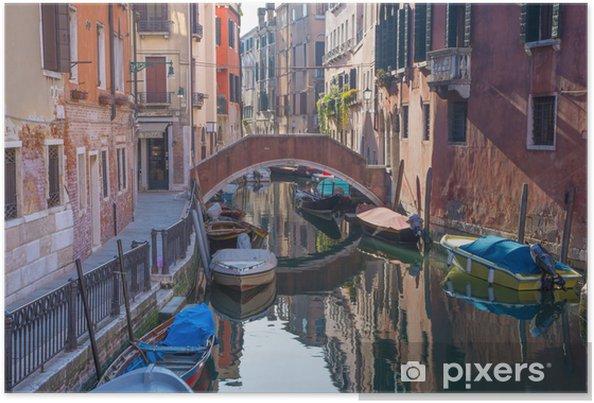 Poster Venise - Regardez le canal Rio dei Frari - Villes européennes