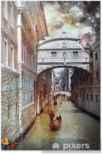 Poster Venise série rêves - Villes européennes