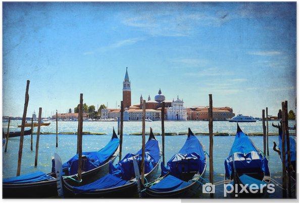 Poster Venise, Vue de San Giorgio a augmenté de San Marco - Thèmes